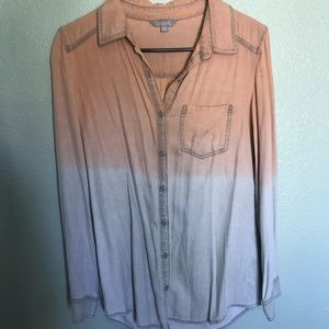 Nordstrom Soft Ombré Long Sleeve Button Down